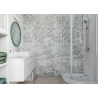 ПВХ Панели Grey Marble (Мрамор серый) 2650х250х8 мм 3D Дизайн