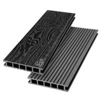 Террасная доска из ДПК Savewood Ornus Тангенциальный распил Черный 6000х144х25 мм
