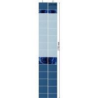 Стеновая панель ПВХ Кронапласт Unique Капли росы Синий 2700х250 мм Сэндвич Панели ПВХ