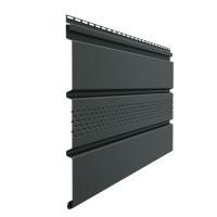 Софит Docke Standard с центральной перфорацией Графит 3050х305 мм
