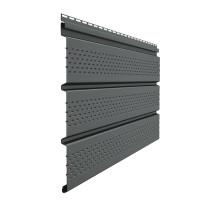 Софит Docke Standard полностью перфорированный Графит 3050х305 мм