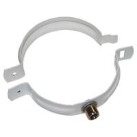 Хомут трубы металлический Альта-Профиль Стандарт Белый 74 мм