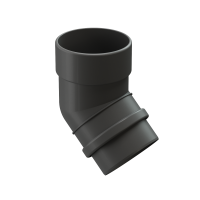 Колено 45° трубы DOCKE LUX цвет Графит