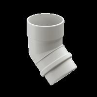 Колено 45° трубы DOCKE LUX цвет Белый
